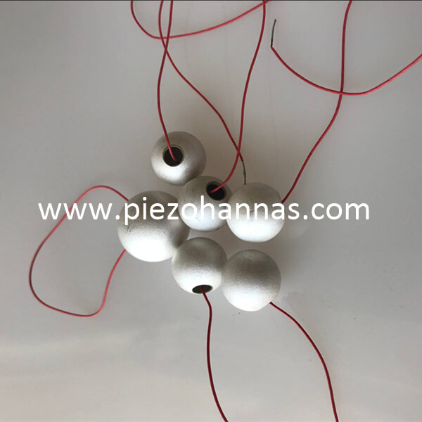 electronic transducer piezo ceramics sphere for acoustic hydrophones