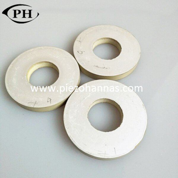 40 khz piezoceramic rings for displacement measurement