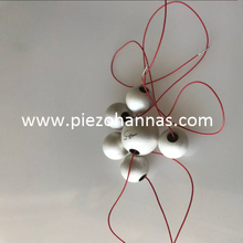 ultrasonic piezo sphere with hole for hydrophone