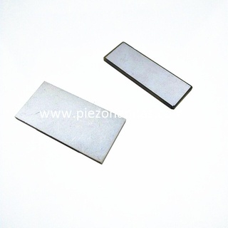 PZT5 piezoelectric plate sensors for electricity harvesting sheet