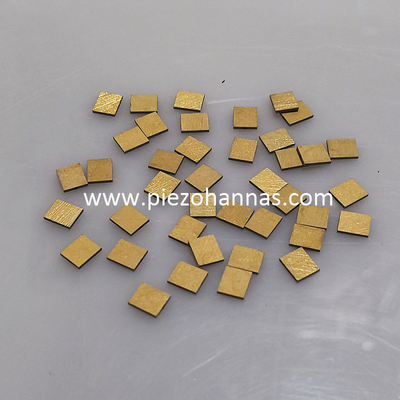 gold plating electrode shear polarized piezoelectric ceramic transducer