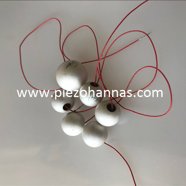 High Sensitivity Piezo Ceramics Sphere Transducer for Hydrophone Array